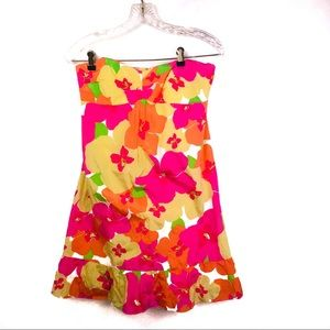 Lilly Pulitzer Blair Bold Floral Punch Silk Dress